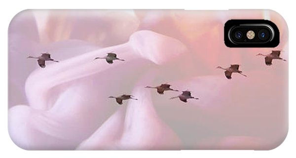 iPhone Case - Surreal Sandhills Flying In Formation by Carol Groenen