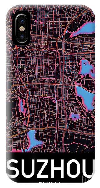 Suzhou City Map IPhone Case