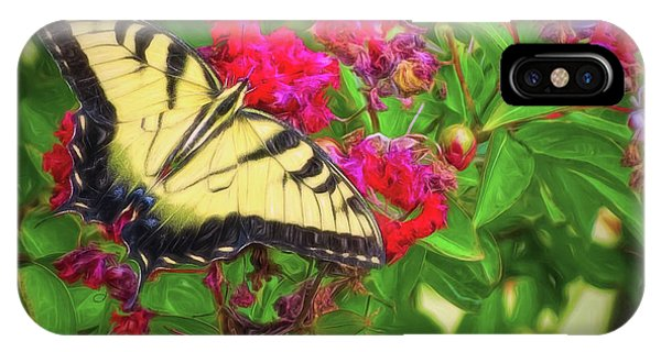 Swallowtail Among Flowers IPhone Case
