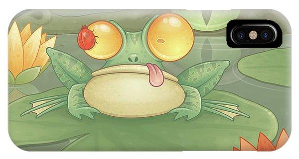 Crocodile iPhone Case - Swamp Snack by John Schwegel