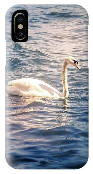 Water iPhone Case - Swan by Nicklas Gustafsson