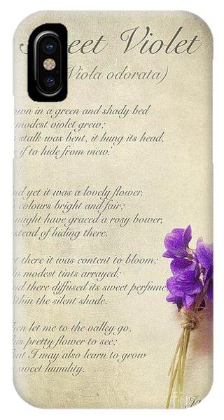 Wild Violet iPhone Case - Sweet Violet by John Edwards