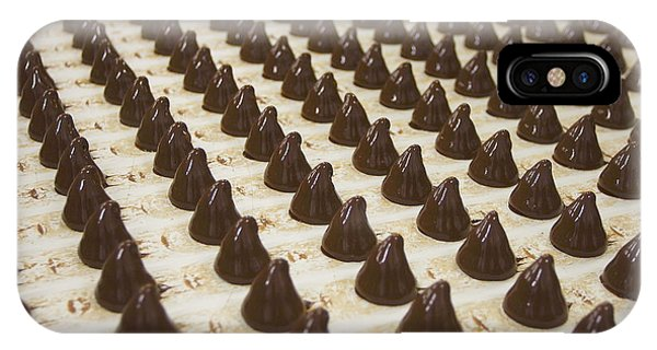 Tasty iPhone Case - Sweets On A Chocolate Factory Conveyor by Photowind