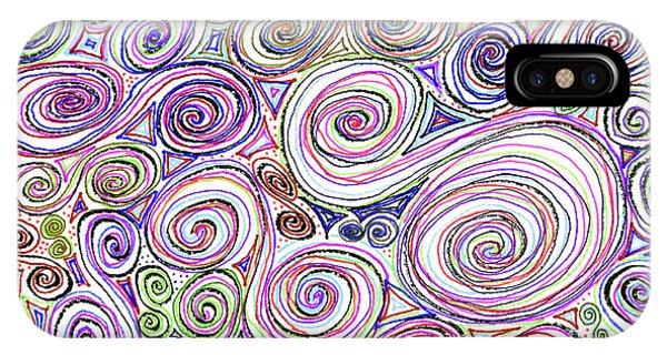 Swirls II IPhone Case
