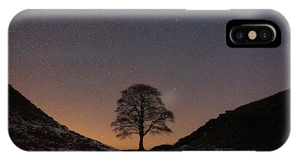 Astro iPhone Case - Sycamore Gap  by Mark Mc neill