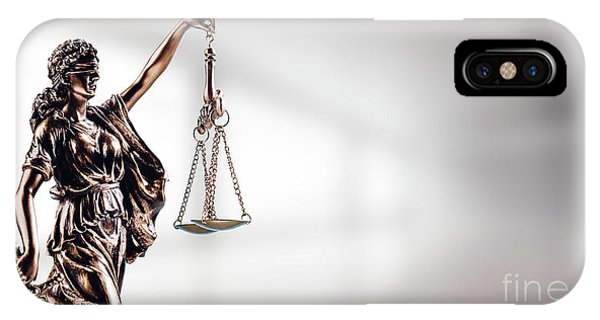 Fairness iPhone Case - Symbol Of Law, Themis In Modern Hall. by Michal Bednarek
