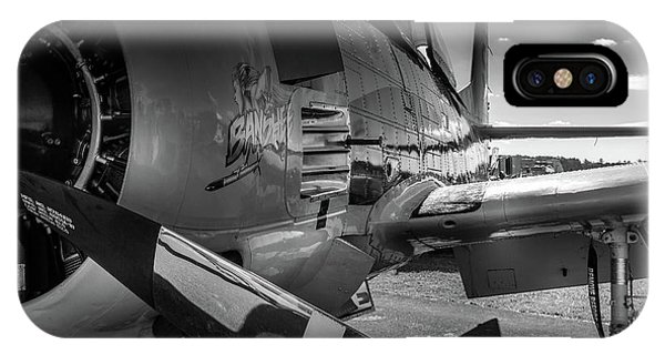 IPhone Case featuring the photograph T-28b Trojan In Bw by Doug Camara