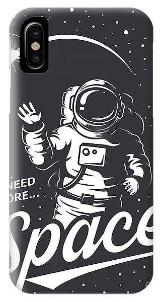 Space iPhone Case - T-shirt Design Print. Space Theme by Vectorpot