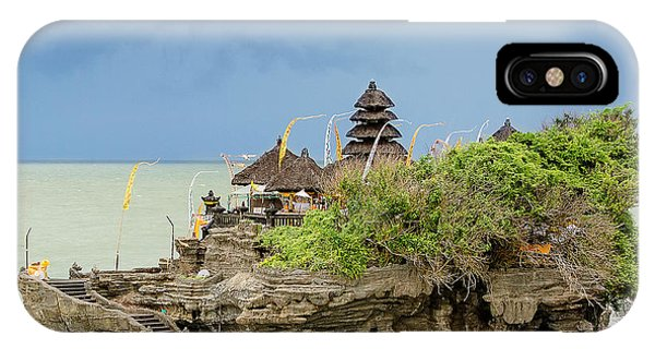 Travel Destination iPhone Case - Ta-nah Lot Temple, Bali, Indonesia by My Good Images