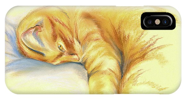 Tabby Cat Relaxed Pose IPhone Case