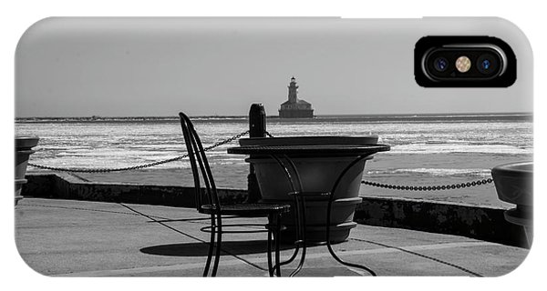 Table For One Bw IPhone Case
