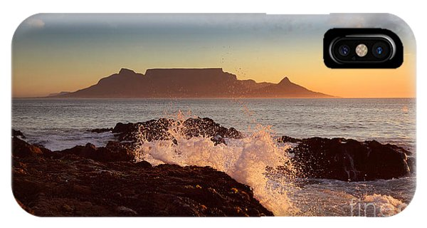 Table Mountain With Clouds, Cape Town Phone Case by Dietmar Temps