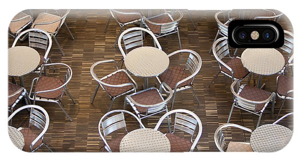 Cafe iPhone Case - Tables And Chairs In A Restaurant by Danielw