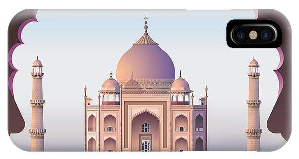 Spirituality iPhone Case - Taj Mahal Through The Window by Nikola Knezevic