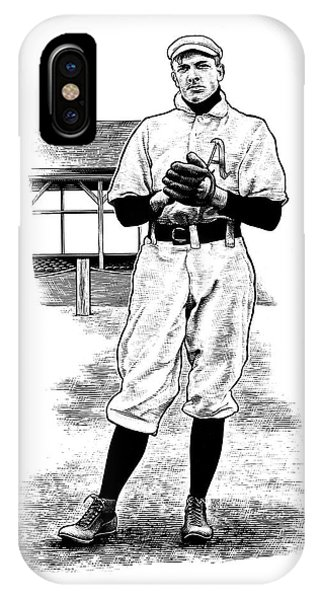 IPhone Case featuring the drawing Take Me Out To The Ballgame by Clint Hansen