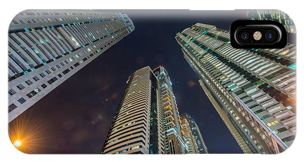 Office Buildings iPhone Case - Tall Residential Buildings In Dubai by Elnur
