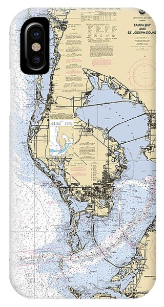 Tampa Bay And St. Joseph Sound Noaa Chart 11412 IPhone Case