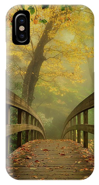 Tanawha Trail Blue Ridge Parkway - Foggy Autumn IPhone Case