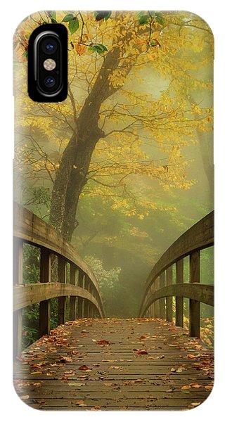 Tanawha Trail Blue Ridge Parkway - Foggy Autumn IPhone Case