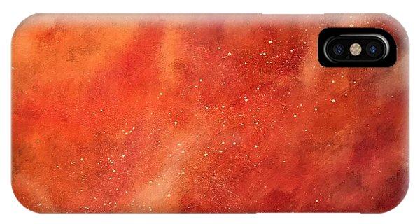 Tangerine Nebula Cloud IPhone Case