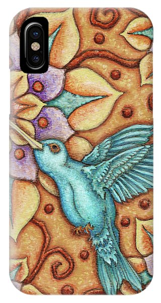 Tapestry Hummingbird IPhone Case