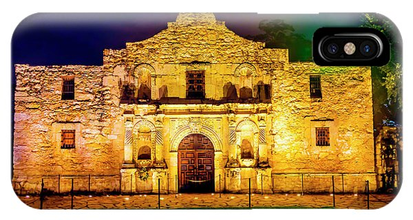 The Alamo iPhone Case - Te Alamo At Night by Garry Gay