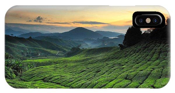 Farmland iPhone Case - Tea Plantation Cameron Highlands by Noolwlee