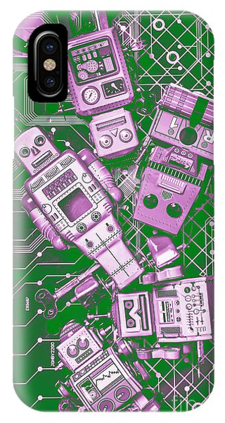 Robot iPhone Case - Tech Borg Centre by Jorgo Photography - Wall Art Gallery