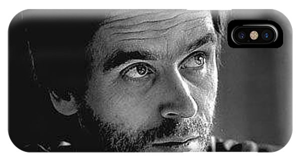 Ted Bundy iPhone Case - Ted Bundy Bw by Eden OBrien