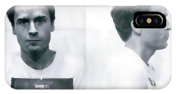 Ted Bundy iPhone Case - Ted Bundy Mug Shot by Dan Sproul