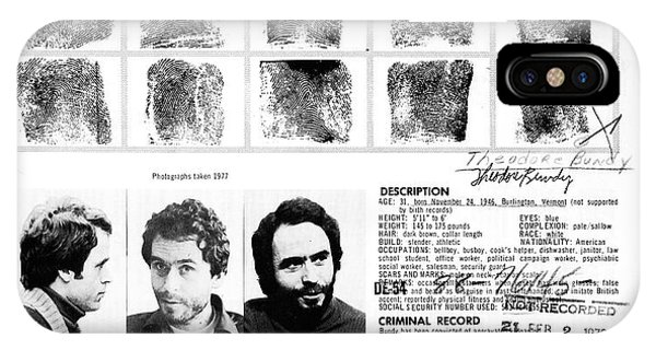 Ted Bundy iPhone Case - Ted Bundy - Wanted By The Fbi by Doc Braham