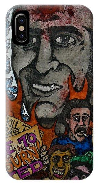 Ted Bundy iPhone Case - Ted Bundys Last Smile by Sam Hane