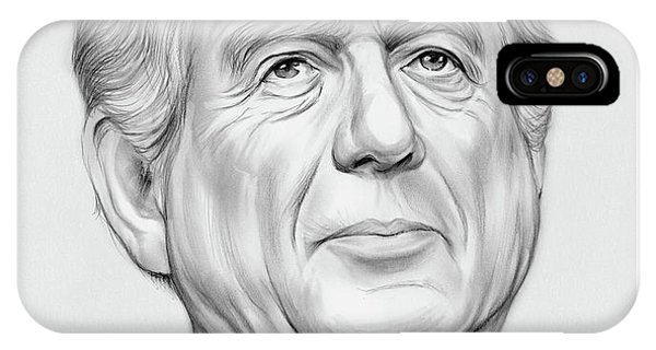 Graphite iPhone Case - Ted Koppel by Greg Joens