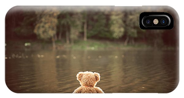 Xmas iPhone Case - Teddy Bear by Creaturart Images