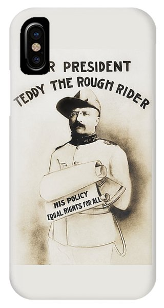 Equal iPhone Case - Teddy The Rough Rider - For President - 1904 by War Is Hell Store