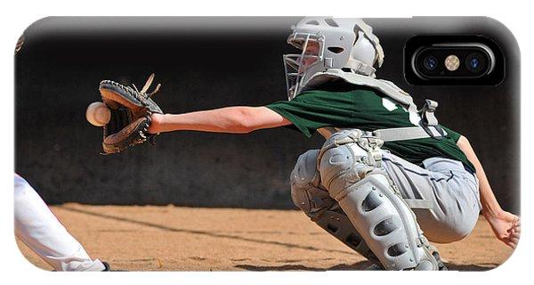 Young iPhone Case - Teen Boy Catching A Baseball Game by Dec Hogan
