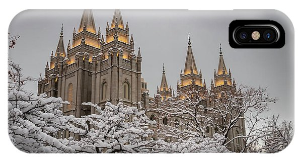 Temple In The Snow IPhone Case