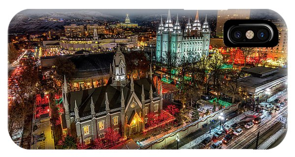 Temple Square Lights IPhone Case