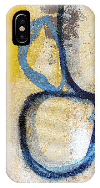 Sky iPhone Case - Tender Mercies Yellow- Abstract Art By Linda Woods by Linda Woods