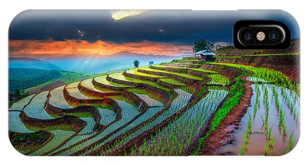 Culture iPhone Case - Terraced Paddy Field In Mae-jam Village by Travel Mania