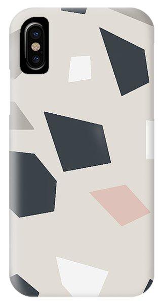 Stone Wall iPhone Case - Terrazzo 3- Art By Linda Woods by Linda Woods