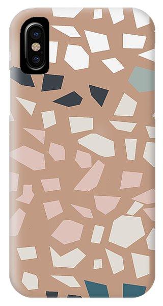 Stone Wall iPhone Case - Terrazzo 4- Art By Linda Woods by Linda Woods