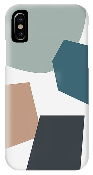 Teal iPhone Case - Terrazzo Abstract 1- Art By Linda Woods by Linda Woods