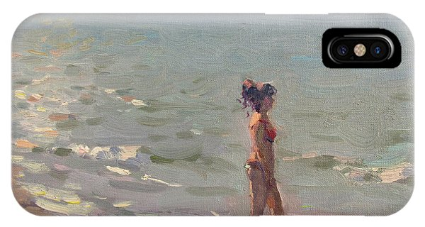 Waterscape iPhone Case - Testing The Water by Ylli Haruni