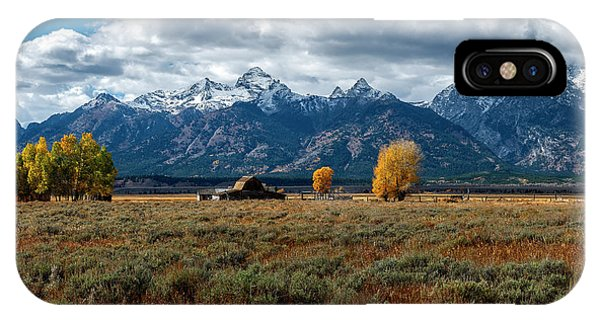 IPhone Case featuring the photograph Tetons And Mormon Row by Scott Read