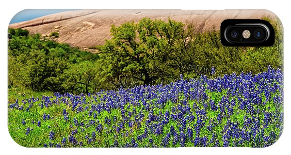 Texas Bluebonnets And Enchanted Rock 2016 IPhone Case