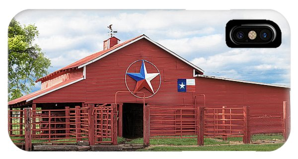 Texas Red Barn IPhone Case