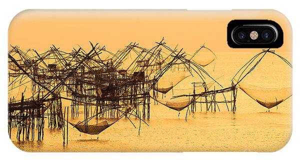 Ripples iPhone Case - Thai Style Fishing Trap In Pak Pra by Take Photo