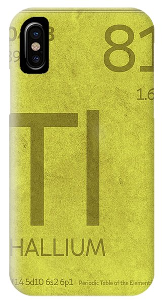 Periodic table iphone cases page 2 of 12 fine art america periodic table iphone case thallium element symbol periodic table series 081 by design turnpike urtaz Choice Image