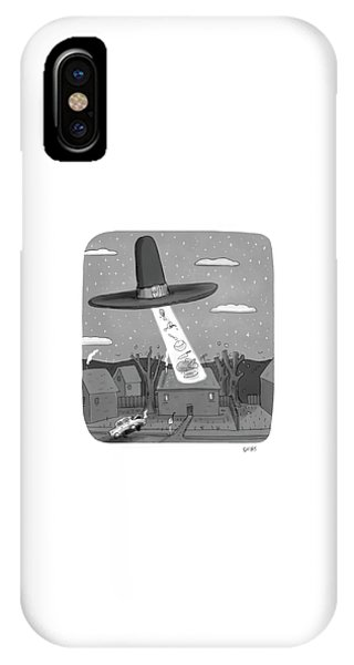 Thanksgiving Aliens IPhone Case